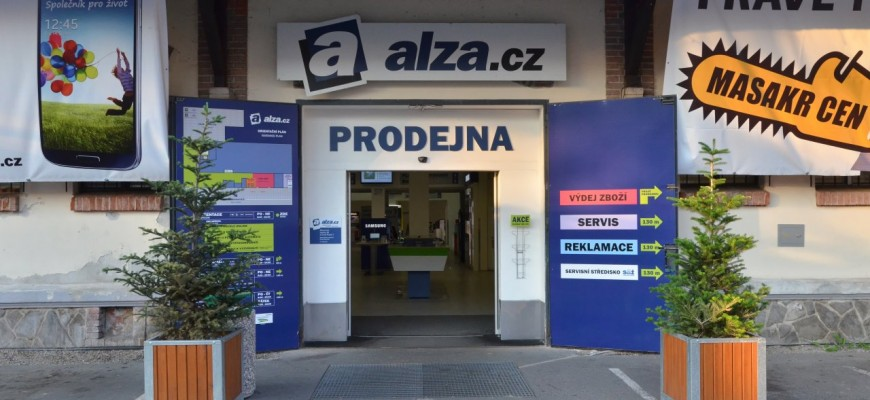 Alza.cz - pobočka v Holešovické tržnici na Praze 7