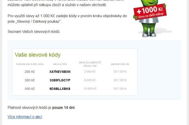 Slevové kódy Alza.cz – 200 Kč – 300 Kč – 500 Kč